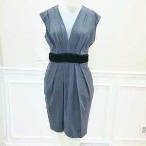 Eva Franco grey dress with black waist band